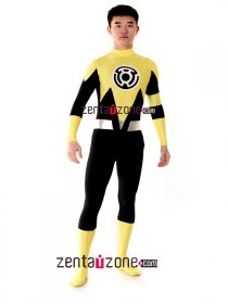 Authentic And Cool Spandex Lycra Yellow Lantern Zentai Costume