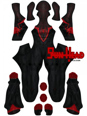 Custom Printed PS5 Insomniac Miles Morales Spider-Man