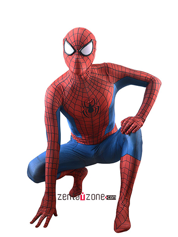 Custom Printed Sayer Spider-man Zentai Costume [30526]