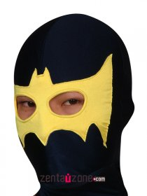 Black Yellow Spandex Lycra Hood With Eyes Open