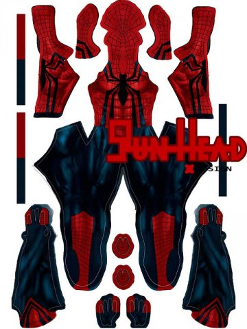 Custom Printed Ben Reilly Zentai Spiderman Costume [40108]