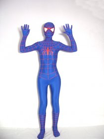 Spandex Lycra Red Webing Spiderman Zentai Costume