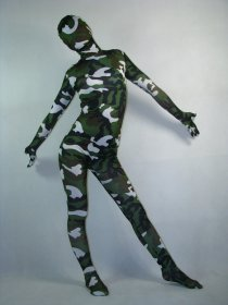 Camouflage Spandex Lycra Full Body Zentai Suit