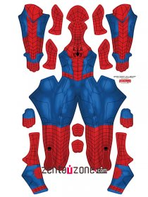 Custom Printed Ultimate Alliance Spiderman Zentai Costume