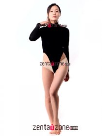 Black Velvet High Neck Leotard