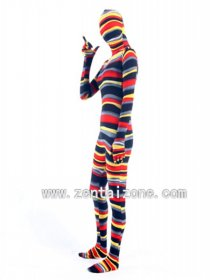 Colorful Camouflage Spandex Zentai Full Bodysuit