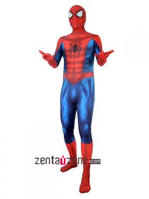 Custom Printed Spiderman Lycra Zentai Costume
