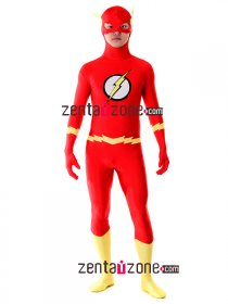 Authentic The Flash Lycra Spandex Superhero Zentai Costume