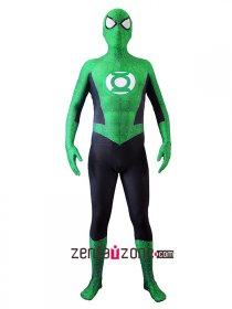 Custom Printed Green Lantern Spiderman Costume