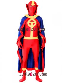 Authentic Spandex Lycra Red Tornado Zentai Costume
