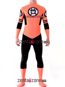 Spandex Lycra Orange Lantern Zentai Costume