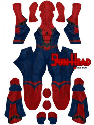 Custom Printed Spider-man Homecoming Concept Art Zentai