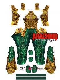 Custom Printed Aquaman Zentai Costume