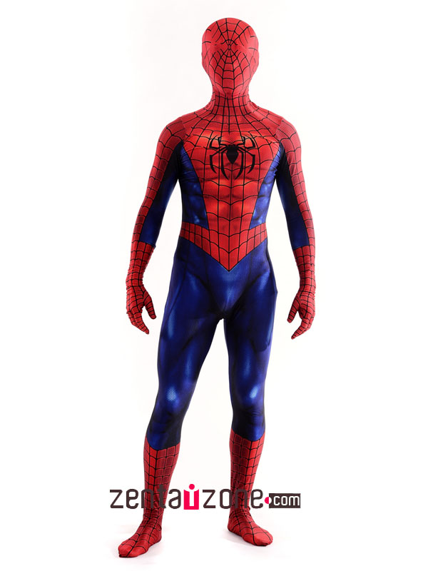 Custom Printed Comic Spiderman Costume