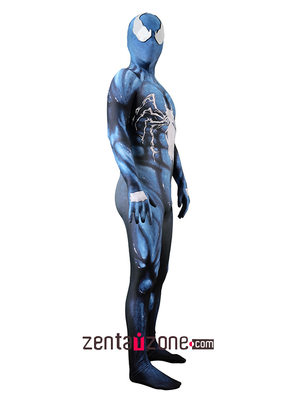 Custom Printed Venom Symbiote Lycra Costume - Click Image to Close