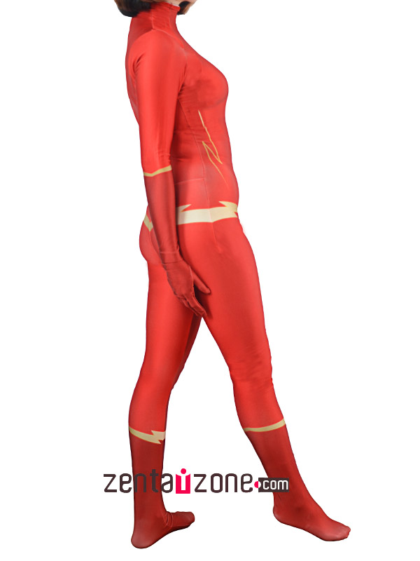 Custom Printed Female The Flash Lycra Zentai - Click Image to Close