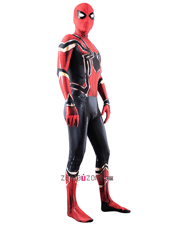 Custom Printed Iron Spider-MCU V2 Costume - Click Image to Close