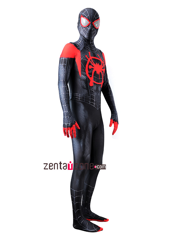 Custom Printed Miles Morales Spiderman Zentai - Click Image to Close