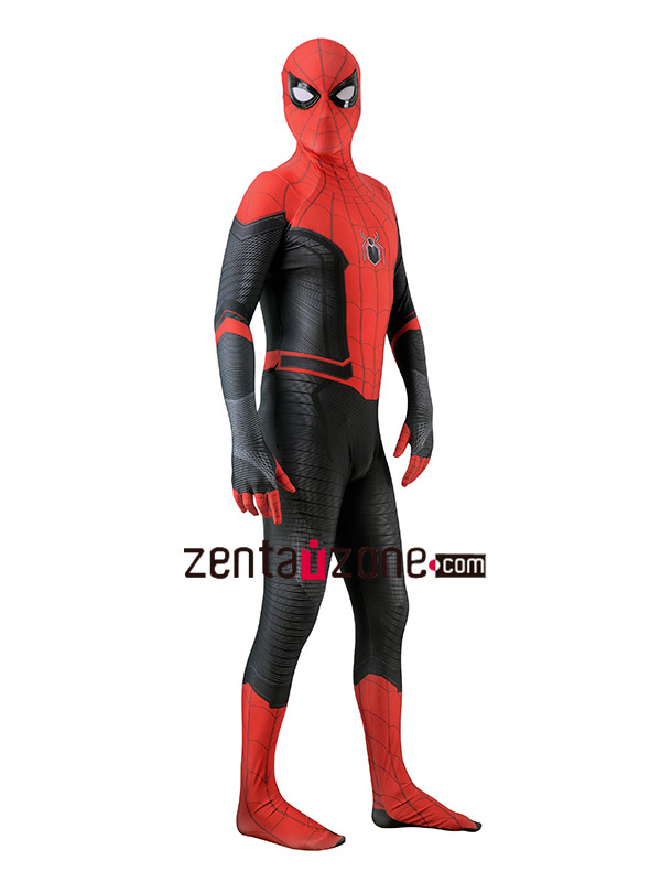 Custom Printed Far From Home Spiderman Zentai Suit - Click Image to Close